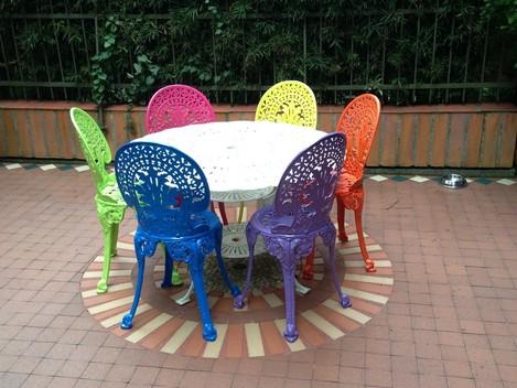Muebles para jardin terrazas piscinas mesas y sillas en for Muebles de aluminio para jardin